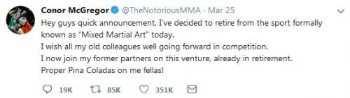 Pengumuman McGregor pensiun