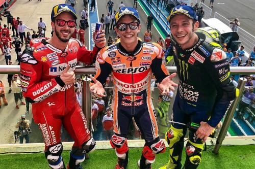 Andrea Dovizioso, Marc Marquez, Valentino Rossi (Foto: MotoGP)