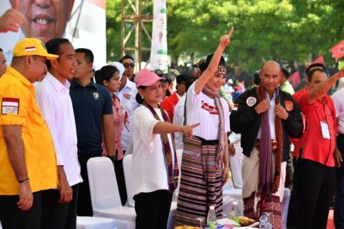 Jokowi Kampanye Terbuka di Kupang, NTT (foto: Ist)
