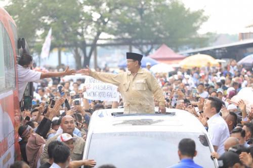 Kampanye Terbuka Prabowo di Palembang, Sumsel (foto: Ist)