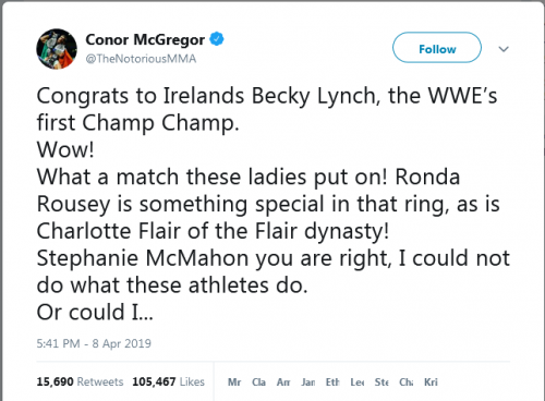 Twitter Conor McGregor (Foto: Twitter/@TheNotoriousMMA)