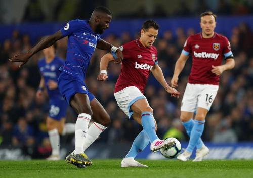 West Ham United saat menghadapi Chelsea