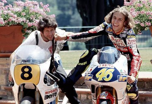 Vale Rossi bersama sang ayah