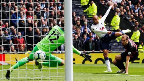 Lucas Moura mencetak gol kedua Tottenham Hotspur (Foto: Laman resmi Premier League)