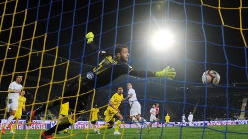 Momen saat pemain Inter bobol gawang Frosinone