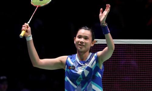 Tai Tzu Ying saat sedang bertanding