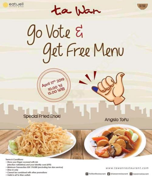 jangan lewatkan promo menggiurkan yang ditawarkan Ta Wan Restaurant.