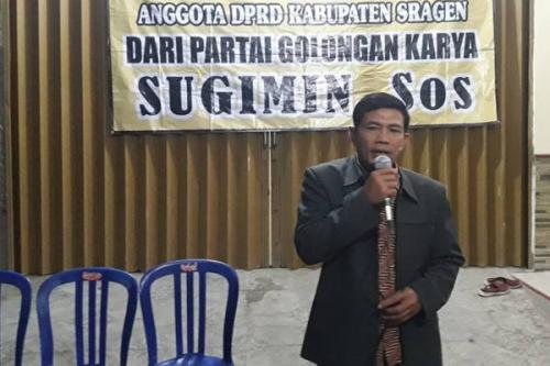 Sugimin, caleg petahana DPRD Sragen, yang ditemukan tewas sebelum pencoblosan. (Facebook Sugimin/Solopos)