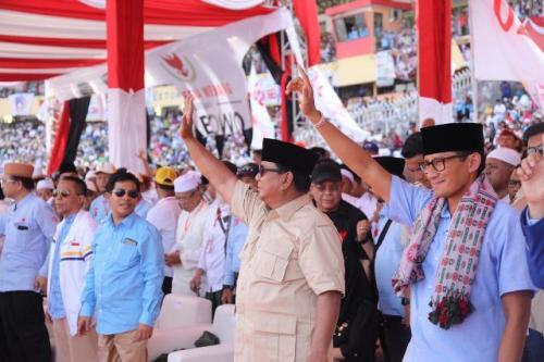 Prabowo Subianto-Sandiaga Salahuddin Uno. (Foto: BPN)