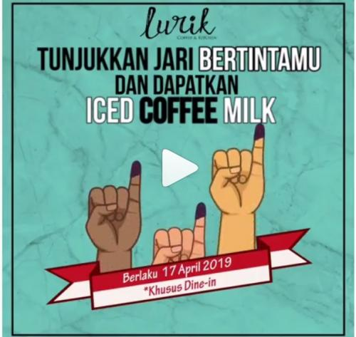 Nah, untuk minuman kopi ada promo menarik dari Lurik Coffee, kedai kopi milik artis Ussy Sulistiawati.