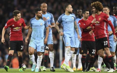 Man United vs Man City (Foto: AFP)