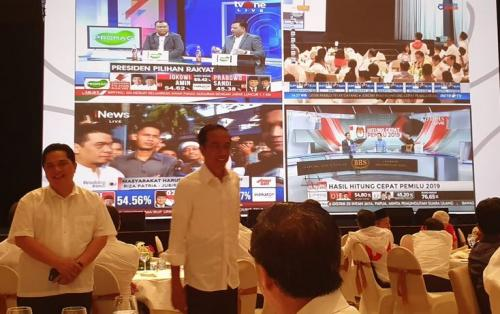 Jokowi-Maruf Nobar Quick Count