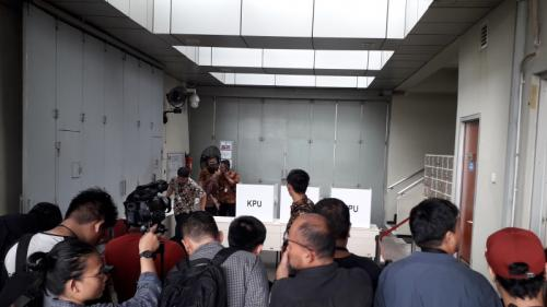 TPS 012 di Gedung KPK, Jakarta. (Foto : Arie Dwi Satrio/Okezone)
