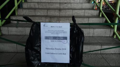 Pasar Tanah Abang ditutup