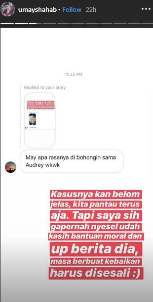 Umay Shahab soal Audrey