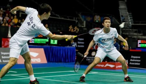 Lee Yong-dae dan Kim Gi-jung (Foto: BWF Media)