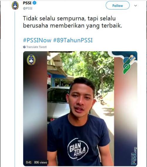 PSSI (Foto: Twitter/@PSSI)