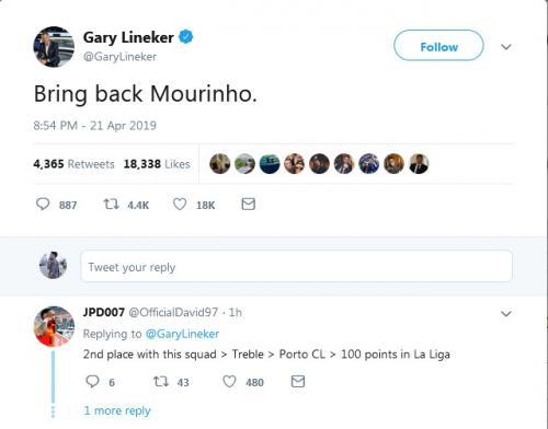Twitter Gary Lineker (Foto: Twitter/@GaryLineker)