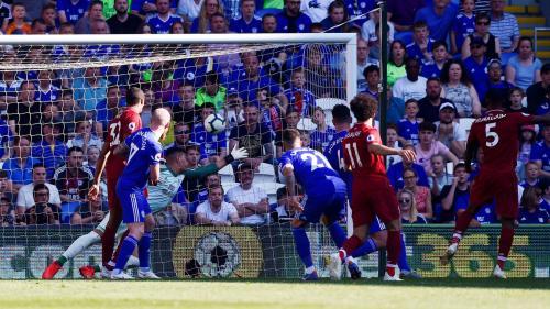 Gol Georginio Wijnaldum vs Cardiff City (Foto: Liga Inggris)