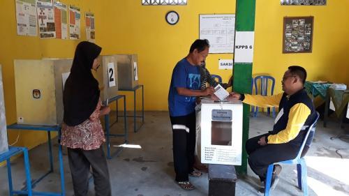 Pemungutan suara ulang di Kulonprogo. (Foto : Kuntadi)