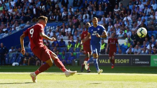 Roberto Firmino vs Cardiff City (Foto: Liga Inggris)