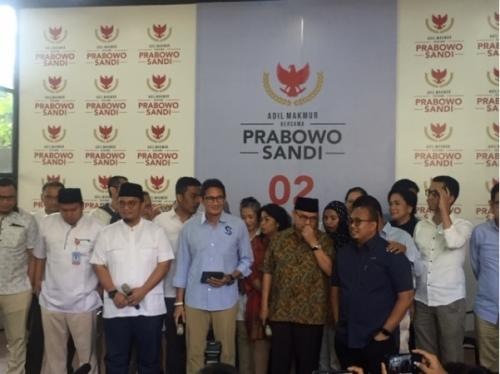 BPN Prabowo-Sandi (Foto : Fadel Prayoga/Okezone)