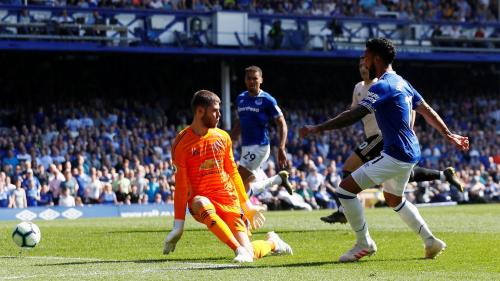 Theo Walcott vs Man United (Foto: Liga Inggris)
