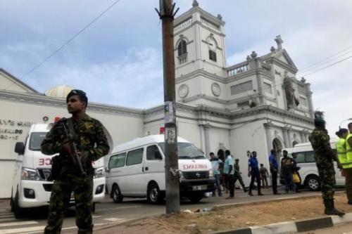 Bom Sri Lanka. (Foto: Dinuka Liyanawatte/Reuters)