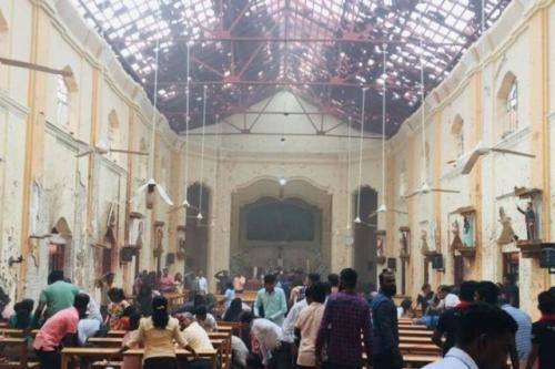 Bom Sri Lanka. (Foto: Facebook Gereja St Sebastian di Waga)