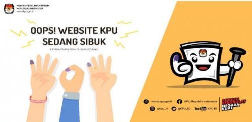 Situs KPU sempat tidak bisa diakses pasca-pemilu. (Foto: Ist)
