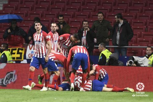Atletico Madrid selebrasi
