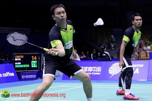 Hendra/Ahsan targetkan semifinal di Indonesia Open 2019