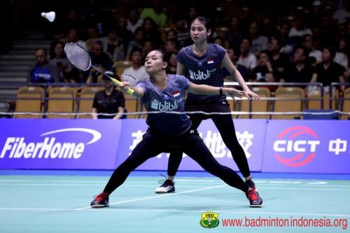 Della/Rizki saat tampil membela Indonesia