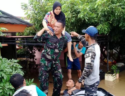 Banjir di Bengkulu. (Demon Fajri/Okezone)