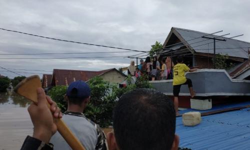 Banjir di Bengkulu (foto: Demon Fajri/Okezone)