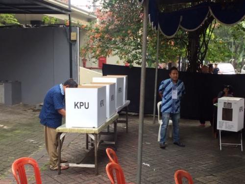 Pemungutan Suara Ulang di TPS 002 Sawah Besar Jakpus Foto: Harits