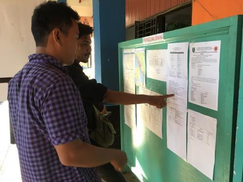 Posko bantuan dan penanganan bencana banjir dan longsor Provinsi Bengkulu. (Demon Fajri)