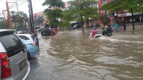 Banjir di Jakarta pada akhir pekan lalu (Dok Okezone)