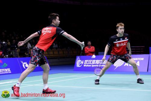 Marcus Fernaldi Gideon/Kevin Sanjaya Sukamuljo ke delapan besar Indonesia Open 2019
