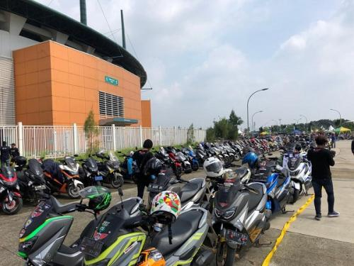 Ratusan bikers skuter bodi bongsor semarakkan Maxi Day (Ist)