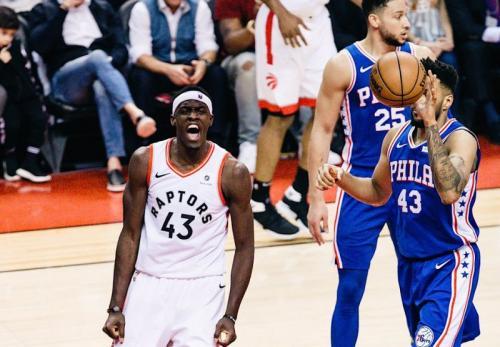 Toronto Raptors vs Philadelphia 76ers (Foto: Raptors/Twitter)