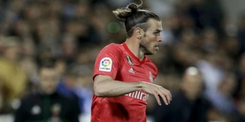Selebrasi Gareth Bale saat cetak gol untuk Madrid