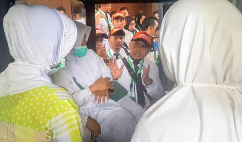 Petugas Haji gladi posko (MCH 2019)