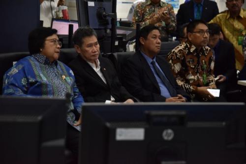 Dubes dan Sekjen ASEAN Diperlihatkan Kecanggihan BMKG Kendalikan Asap dan Karhutla