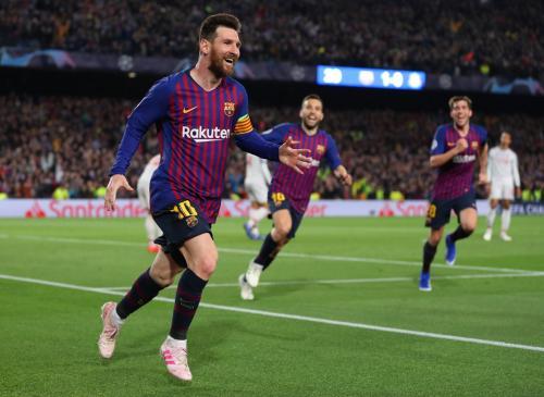 Lionel Messi saat membela Barcelona