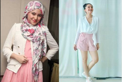 Marshanda lepas hijab