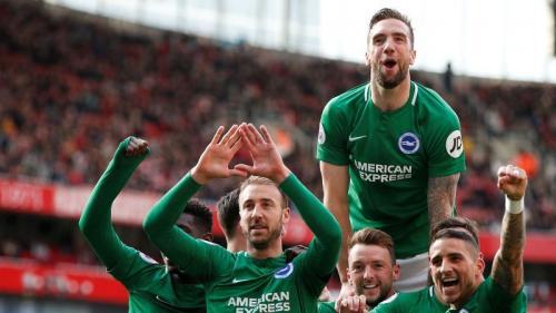 Brighton and Hove Albion menyamakan kedudukan di babak kedua (Foto: Premier League)