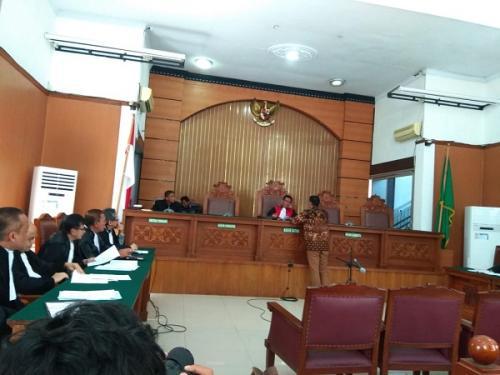 Sidang praperadilan Romahurmuziy di PN Jaksel. (Foto : Muhamad Rizky/Okezone)