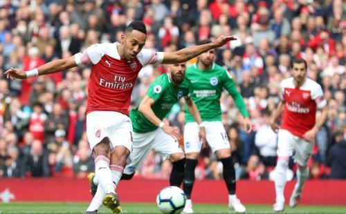 Aubameyang sempat membawa Arsenal unggul 1-0 (Foto: Premier League)