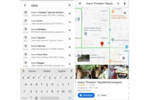 Rumah Prabowo Google Maps